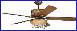 Craftmade Deer Lodge Classic 60 5 Blade Indoor Ceiling Fan Blades, Light Kit
