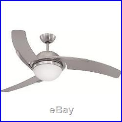 Craftmade JU54SS3 54 3 Blade Indoor Ceiling Fan Blades, Remote and Light Kit