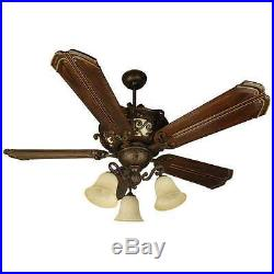 Craftmade K10767 Toscana 56 Ceiling Fan With Pull Chain And Light Kit