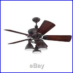 Craftmade K11066 Timarron 54 5 Blade Indoor Ceiling Fan with Light Kit and Blades