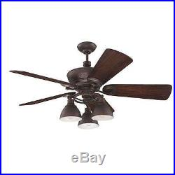 Craftmade K11066 Timarron 54 Ceiling Fan With Remote And Light Kit