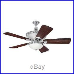 Craftmade K11253 Saratoga 54 5 Blade Indoor Ceiling Fan with Light Kit and Blades