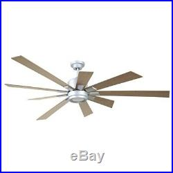 Craftmade Katana 72 Ceiling Fan Kit withLED Light, Titanium, Rustic Oak