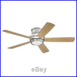 Craftmade TMPH52BNK5 Tempo Hugger 52 Ceiling Fan With Remote And Light Kit