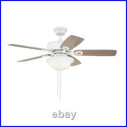 Craftmade Twist N Click 42 Ceiling Fan, Blades & Light Kit, White TCE42W5C1