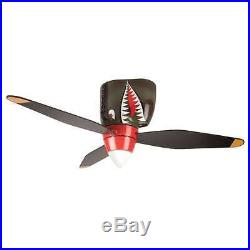 Craftmade WB348TS3 WarPlanes 48 Ceiling Fan With Pull Chain And Light Kit