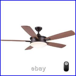 Daylesford 52 in. LED Indoor Oiled-Rubbed Bronze Ceiling Fan with Light Kit