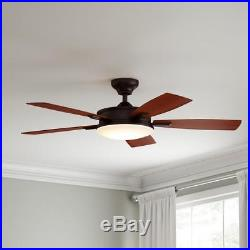 Daylesford 52 in. LED Oiled-Rubbed Bronze Ceiling Fan with Light Kit and Remote