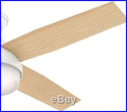 Dempsey Ceiling Fan Light Kit and Universal Remote 52 in. LED Indoor Fresh White