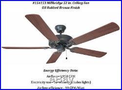 Design House Millbridge 52 In. Oil Rubbed Bronze Ceiling Fan With No Light Kit