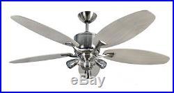 Direct current ceiling fan Delta RD Nickel + light kit Sorrento