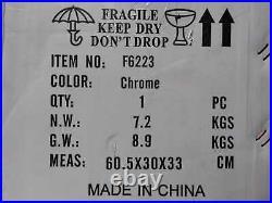Dreyer 48'' Chrome Mount Crystal Ceiling Fan /Light Kit & Remote by Parrot Uncle