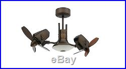 Dual Motor Outdoor/Indoor Oscillating Cool Twin Ceiling Fan + Light Kit + REMOTE