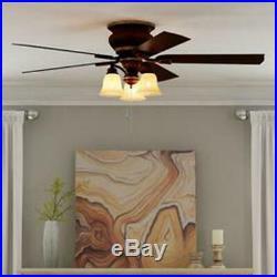 Eastvale 52 In Indoor Berre Walnut Ceiling Fan With Light Kit Hampton Bay