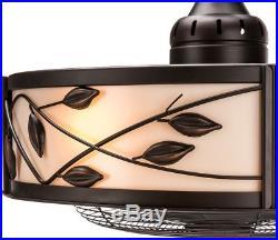 Eastview 23 In Dark Bronze Indoor Downrod Mount Ceiling Fan Light Kit Remote