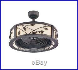 Eastview 23-in Dark Bronze Downrod Mount Indoor Ceiling Fan, Light Kit/Remote