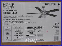 Ellard 52'' LED Brushed Nickel Ceiling Fan w /Light Kit by Home Decorators Coll