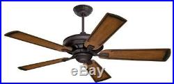 Emerson CF788ORB Ceiling Fan With 6-Speed Wall Control With Light Kit, Oil