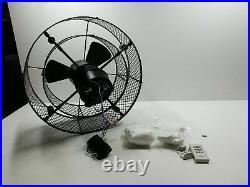 Fanim Industries Vintere Ceiling Fan with Vintage Light Kit, Aged Bronze, 20