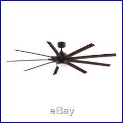 Fanimation FPD8149DZW Odyn 9 Blade 84 Ceiling Fan withBlades, Remote, & Light Kit