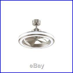 Fanimation Gleam 16 Ceiling Fan, Brushed Nickel/LED Light Kit FP8404BN