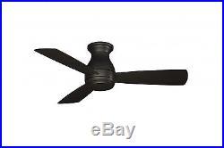 Fanimation Hugh Dark Bronze Outdoor Ceiling Fan 112cm 44 with LED light kit