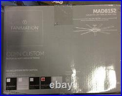 Fanimation Odyn Custom Motor, Matte Greige, LED Light Kit MAD8152GRW