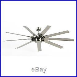 Fanimation Slinger V2 72 in 9 Blade Brushed Nickel Ceiling Fan LED Light Kit