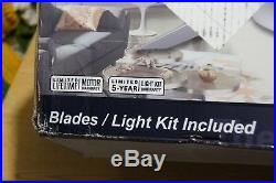 Fanimation Xeno -56 in-Brushed Nickel with Brushed Nickel Blades & LED Light Kit