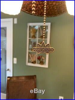 Fanimation ceiling fan Wicker (dark Wood) With Light Kit