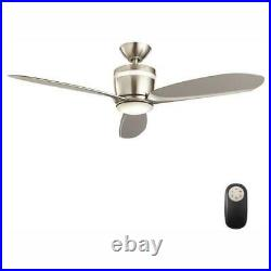 Federigo 48 in. Integrated LED Indoor Nickel Ceiling Fan with Light Kit and