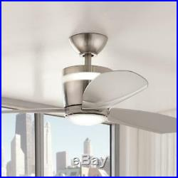 Federigo 48 in. Integrated LED Indoor Nickel Ceiling Fan withLight Kit & Remote C