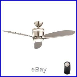 Federigo 48 in. LED Indoor Brushed Nickel Ceiling Fan with Light Kit and Remote