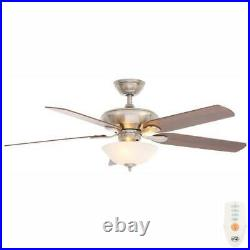 Flowe 52'' LED Indoor Ceiling Fan w Light Kit & Remote Control by Hampton Bay
