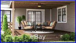 Flush Mount Ceiling Fan Hugger Low Profile Stylish LED Light Kit Indoor Outdoor