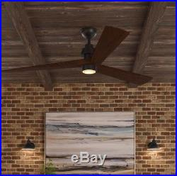 Fortston 60 in. LED Indoor Espresso Bronze Ceiling Fan with Light Kit
