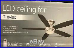GE Treviso 52 in. Brushed Nickel Ceiling Fan With LED Light Kit Brand New