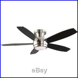 GE Treviso 52 in. Brushed Nickel Ceiling Fan With LED Light Kit & Remote NEW