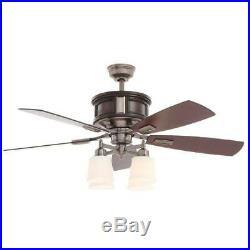 Garrison 52 Indoor Gunmetal Ceiling Fan with Light Kit & Remote Control