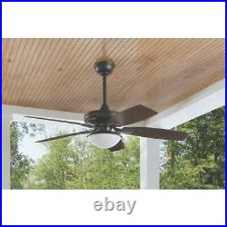 Gazebo III 52'' Indoor/Outdoor Natural Iron Ceiling Fan /Light Kit / Hampton Bay