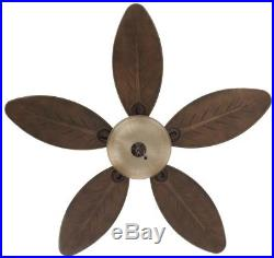 Grand Cayman 54 in. Indoor/Outdoor Onyx Bengal Bronze Ceiling Fan with Light Kit