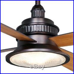 H. Bay Valle Paraiso 52 Indoor Oil-Rubbed Bronze Ceiling Fan-Light Kit-Remote C