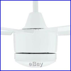 H D Merwry 48 Integrated LED Indoor White Ceiling Fan with Light Kit and Remote
