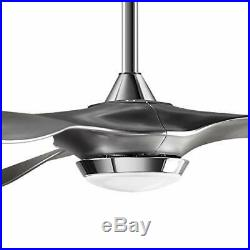 H&Fun 52 Bright White Ceiling Fan with LED Light Kit Remote Control Modern