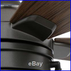 HAMPTON BAY 52 in. Ceiling Fan w Light Kit Decor LED Indoor Outdoor Natural Iron