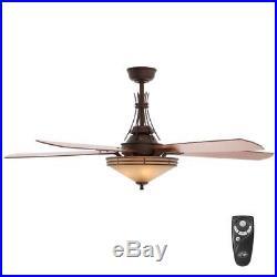 HB Miramar II 60 in. Indoor Oil-Brushed Bronze Ceiling Fan with Light Kit