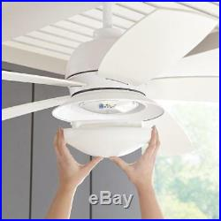 HDC Ackerly 52 in. LED Indoor/Outdoor Matte White Ceiling Fan with Light Kit