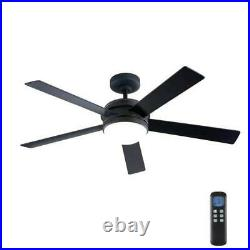 HDC Audrino 52 Integrated LED Indoor Oil Rubbed Bronze DC Ceiling Fan Light Kit