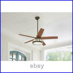 HDC Belford 52'' LED Outdoor Oil Rubbed Bronze Ceiling Fan with Light Kit & Remote