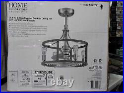 HDC Boswell Quarter Ind/Outdoor 21.5'' Nickel D Mount Ceiling Fan with L Kit & RC
